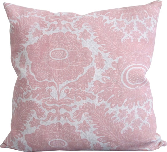 Pink Decorative Pillow Covers : Ananas Rose-Raoul-Decorative Pillow Cover-Pink floral Accent
