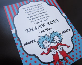 Dr Seuss - Thing 1 & 2 Thank You Card
