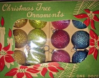 Antique Bumpy Seed Pod Glass Ball Ornaments 3/4 inch