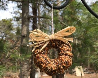 Squirrel Resistant Birdseed Wreath (set of 4) | Garden Feeder | Bird Feeder