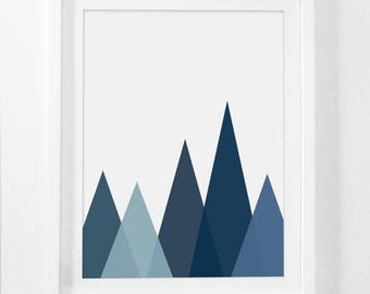 Nursery Art, Mountain Art, Boy Nursery Art, Navy, Blue Mountains, Boy Nursery, Nursery Print Art, Nursery Boy, Mountain Nursery, Printable