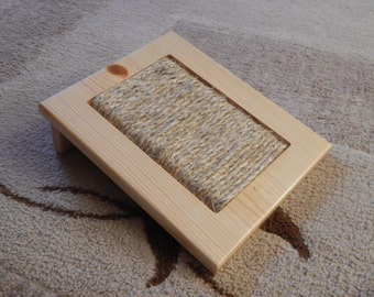 Wooden Cat/Kitten Scratching Pad with Sisal Rope Natural in Color