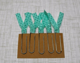 Ribbon Paper Clip, Planner Clips, Ribbon Bookmark, Teacher Gift
