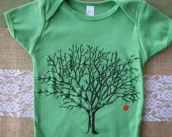 Ready to Ship- TREE of life one-piece, American Apparel  Onesie