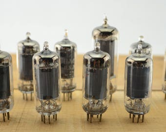 10 Vintage Vacuum Tubes - Electronic Parts Radio Tubes TV Tubes Amplifier Tubes Industrial Parts Collage Steampunk Art Supply E10-2