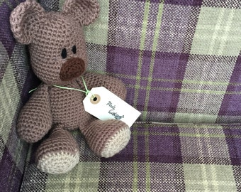 Cute little crochet teddy bear