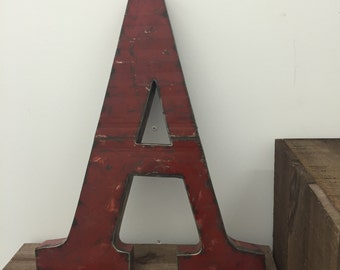 Large Metal Letter A