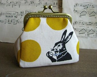 Coin purse clutch with rabbit