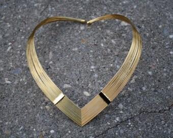 Vintage Collar Necklace, Vintage Bib Necklace