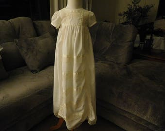 1026 Cream Christening Dress
