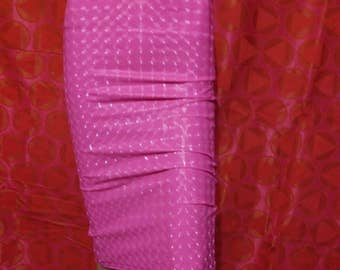 shiny prism hot pink vinyl skirt