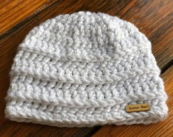 Nor'easter Beanies Double Thick Crochet Beanie Toboggan Winter Hat Outer Banks OBX