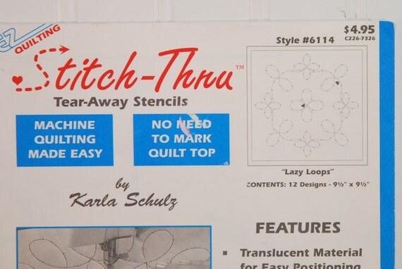 Ez Quilting Stitch Thru Tear Away Stencils By Karla Schulz