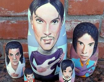 Prince on Russian Nesting Dolls. Rock. Pop.