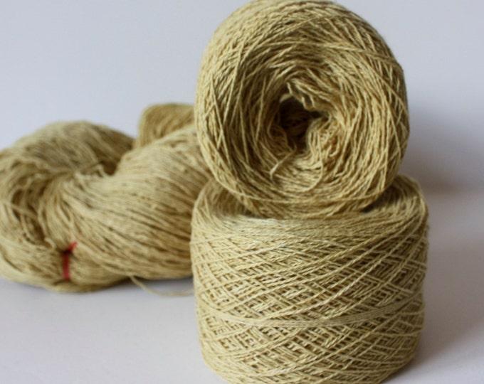 100% Hemp Yarn - Natural Dye - Col: 002 Oroxylum Indicum - Yellow