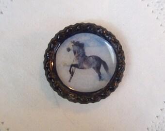 Dapple Gray Horse magnet (744) - Gray Horse Refrigerator magnet - office magnet