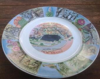 Vintage Carlsbad Caverns souvenir plate- New Mexico