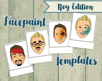 Boy Face Paint Menus - Face Paint - Face Painting Board - Face Paint Templates - Face Paint Design - Face Painting