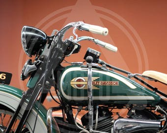 Motorcycle Photo - 1936 Harley Davidson