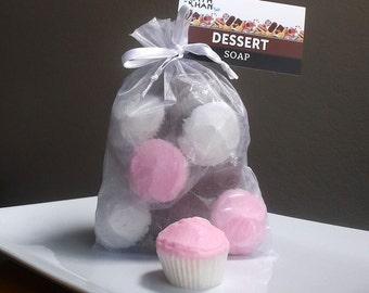 Cupcake Soap - Cupcake Party Favors, Cupcake Favors, Cupcake Birthday, Cupcake Guest Soap, Dessert Soap, Holiday Soap, Soap Gift