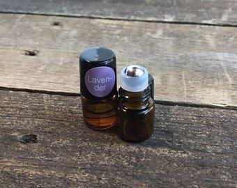 MINI Black Cap Essential Oil Roller Bottles 1 ct. (holds 1 ml)