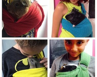 Adjustable Guinea Pig Sling handmade small Pet Carrier