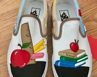 Teachers painted canvas shoes