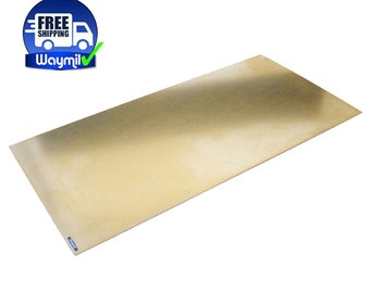 "Brass Sheet Thick 20 Gauge (0.81mm) 6"" x 12"" Jewelry Finding Soldering Metal WA 845-102"