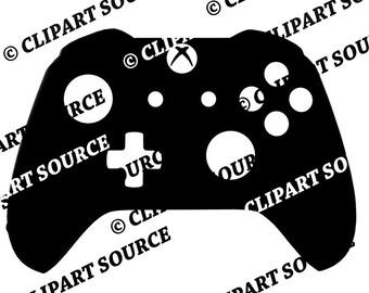 Clip Art; xbox Controller; xbox clipart; video games; consoles games; retro clipart silhouette
