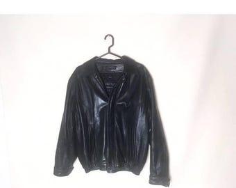 Vintage Claiborne Lambskin Black Leather Jacket Genuine Leather Lamb Skin Very Soft and Warm