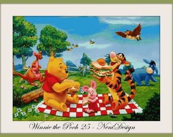 cross stitch pattern, cross stitch, Winnie the Pooh 25 - cross stitch pattern - PDF pattern - instant download!