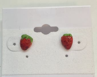 Tiny Strawberry Stud Earrings