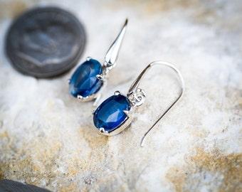 Kyanite Earrings - Kyanite dangle earrings - Kyanite Jewelry - Kyanite Jewelry Blue Gemstone Earrings - Kyanite Dangle Earrings - Kyanite