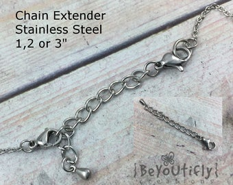 Chain Extender Stainless Steel, Extender for Necklace, Add Length to Necklace, CHOOSE Length, Make a Necklace Bracelet Adjustable in Length