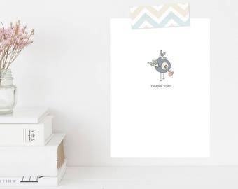 Greeting Card | Winky Wonky Birdies Collection | Thank You