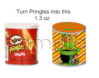 St. Patrick's Day Mini Pringles Wrappers - St. Patrick's Bear - Mini Pringles Wrappers - St. Patrick's Day printable - favor printable