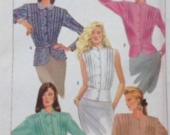 Simplicity It's So Easy - Misses' Peplum Blouses – Size 16