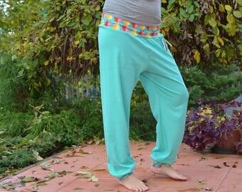 women jogger eco friendly mint light blue