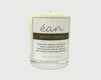 Best Soy Candles, Black Tea and Tobacco Candle, Mini Candle Favors, Spring Candles, Artisan Candle, Aromatherapy, Candle Favors