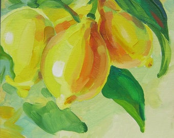 Picture Art Oil  Painting- Lemons.