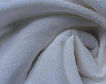Hemp + Silk fabric blend. Fabric by the yard.