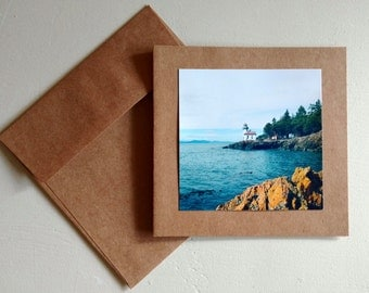 Lime Kiln Lighthouse - Original Photography Greeting Card