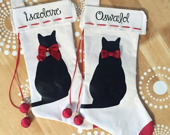 "Shop ""cat christmas stocking"" in Home Décor"