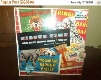 Save 30% Today Vintage 1963 Vinyl LP Record Circus Time Ringling Brothers and Barnum and Bailey Circus Mint Condition 6009