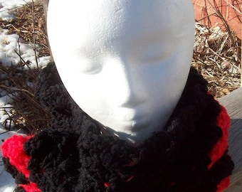 NECK WARMER SCARF! ~ Black and Red! ~ 12.99!