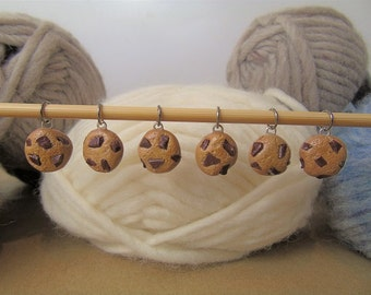 Choc-Chip Cookies Knitting Stitch Markers