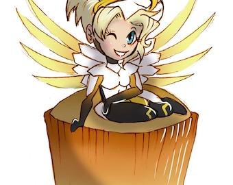Mercy Angel Food Cupcake