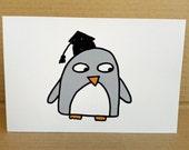 Cute Graduation Card - Funny Penguin - Child's Graduation - College Graduation - University - Kindergarten - Nursery School