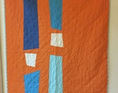 PRIVATE LISTING for Carrie--Orange custom quilt