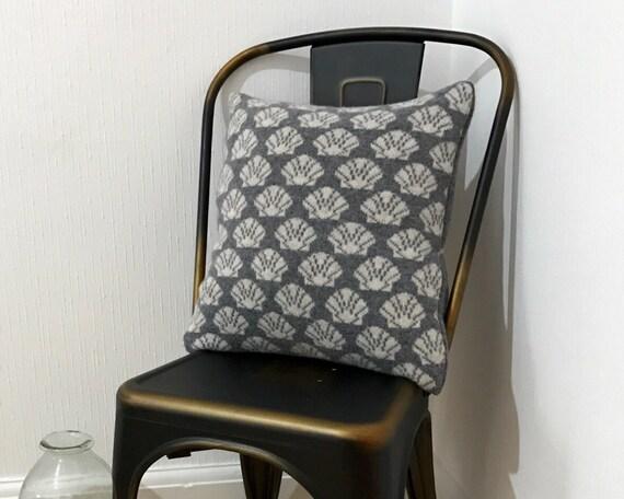 Nautical Cushion Knitting Pattern : Knitted Shell cushion nautical cushion seaside decor